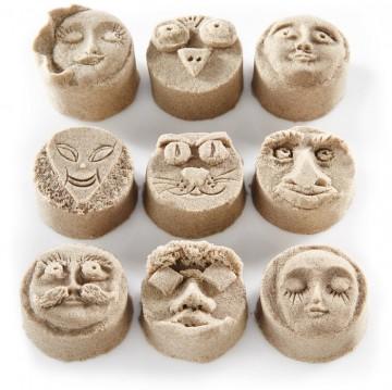 kinetisch-zand-gezichten