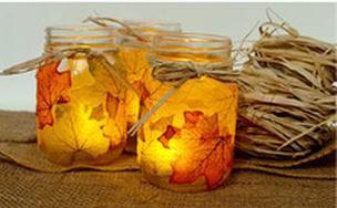 lichtje-met-bladeren