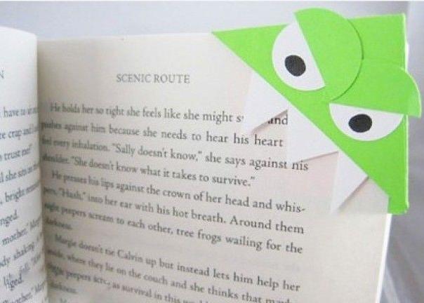 Boekenleggers knutselen voor Boekenweek 2014