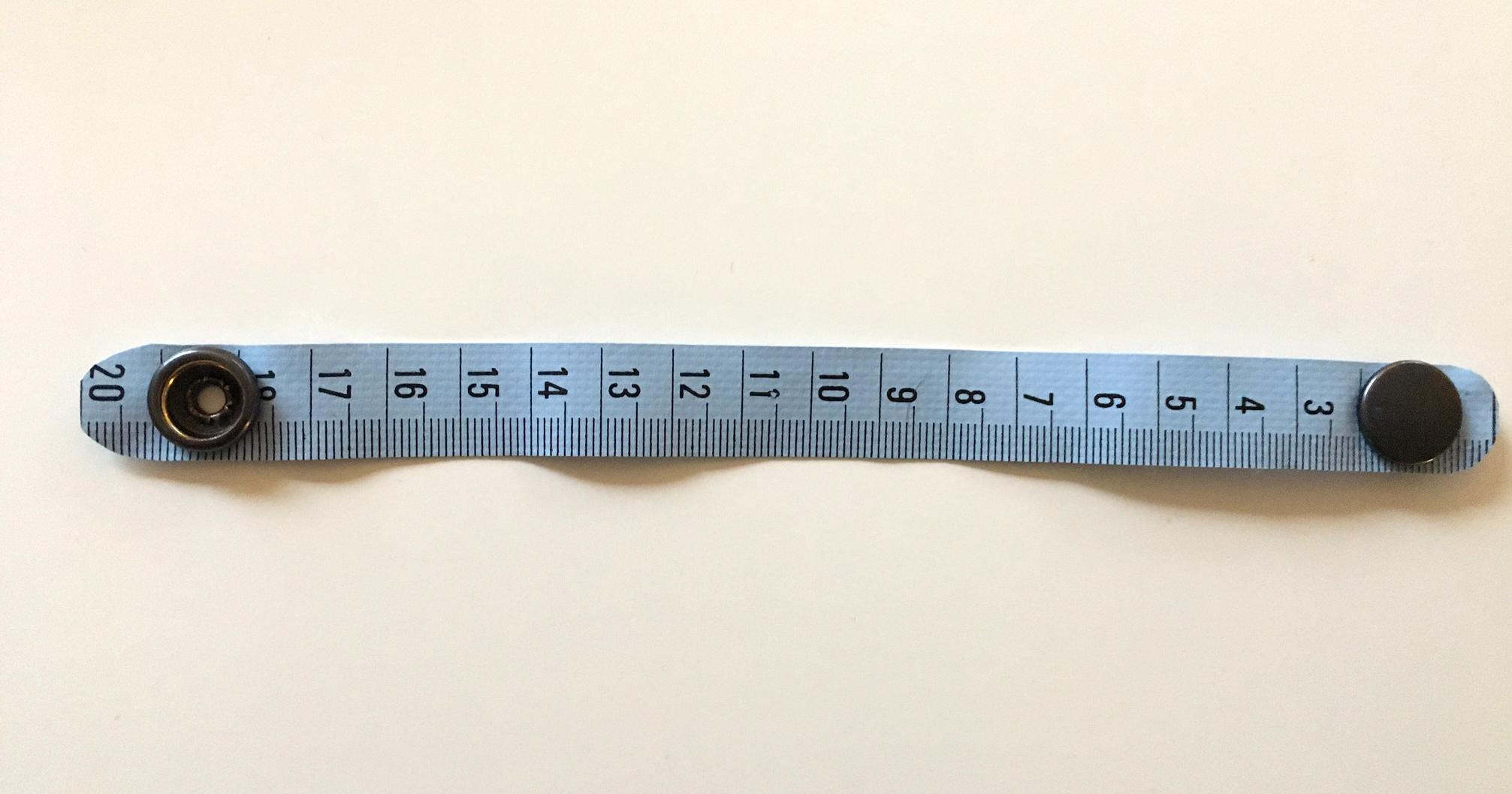 armbandje van een meetlint