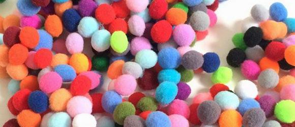 Kerstballen knutselen top 15 #12: pompons